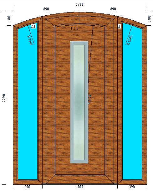 Drzwi MARA łuk