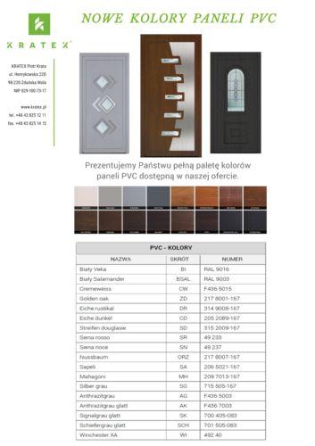Nowe Kolory Paneli PVC